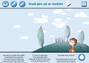 Copie d'écran du prototype d'adaptation du livre-CD Maman dit qu'il ne faut pas ! (2014, David Tardiveau)